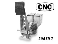 CNC Series 204 Brake Pedal- Dual Rectangular Master Cylinders