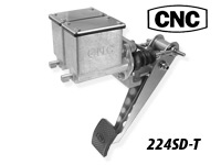 CNC Series 224 Brake Pedal Reverse Swing Mount-Dual Rectangular Master Cylinders