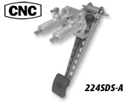 CNC Series 224 Brake Pedal Reverse Swing Mount-Dual Non Reservoir Master Cylinders