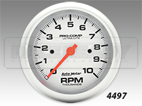 "Autometer 3-3/8"" Ultra-Lite In Dash Tachometer"