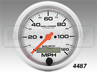 "Autometer 3-3/8"" Ultra-Lite In Dash Programmable Speedometer"