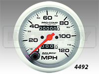 "Autometer 3-3/8"" Ultra-Lite In Dash Mechanical Speedometer"
