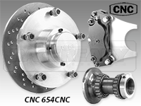 CNC Series 654 Front Disc Brake Kit-A Arm Suspension
